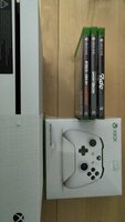 Used Xbox one S + new controler + 3 games in Dubai, UAE