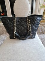 Used TIRY BURCH QUILTED LEATHER TOTE BAG.. in Dubai, UAE