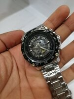 Used Winner watch silver black in Dubai, UAE
