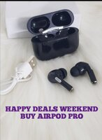 Used AIRPOD PRO WIRELESS BLACK ✔️✔️✔️✔️✔️ in Dubai, UAE