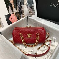 Used chanel elegant red bag in Dubai, UAE