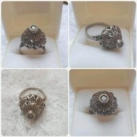 "Used Antique old Silver Ring""with diamonds "" in Dubai, UAE"