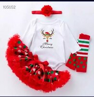 Used Merry Christmas Baby Girl Outfit in Dubai, UAE