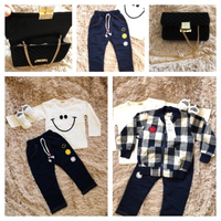 Used Baby set size 6-9/M & small black bag in Dubai, UAE