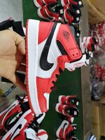 Used Nike jordan, red+white,  size 44 in Dubai, UAE