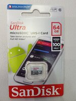 Used Sandisk ultra MicroSD card 64GB in Dubai, UAE