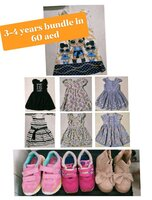 Used Shoes and clothes bundle for 3-4 years in Dubai, UAE