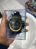 Used Mens Sports watch with gold rim in Dubai, UAE