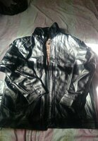 Used Brand new men's leather jacket size 38 in Dubai, UAE