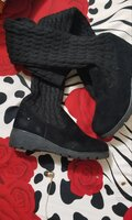 Used Knitted Wool Stovepipe Boots (35) in Dubai, UAE