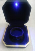 Used Gift necklace box with blue light new in Dubai, UAE