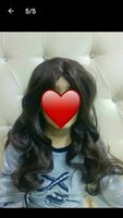 Used Brown hair wig & wig cover free new in Dubai, UAE