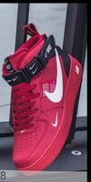 Used Nike  high cut red shoe, sizes 36 to 45 in Dubai, UAE