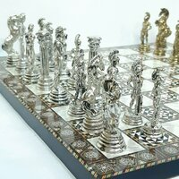 Used Luxury Metallic Figure Wooden Chess♟❤🇦♥ in Dubai, UAE