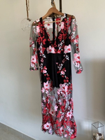 Used VINTAGE black flower dress  in Dubai, UAE