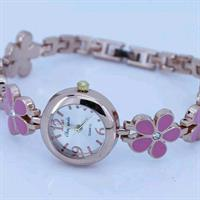 Pink Flower Women Watch