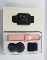 Smart fitness watch with HRS pink color
