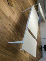 Used Ikea ingatorp white table in Dubai, UAE