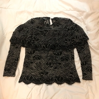 Used Zara woman lace elegant top in Dubai, UAE