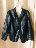 Used Black leather jacket size XL in Dubai, UAE