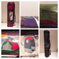 Bundle of 2 tents and camping shower