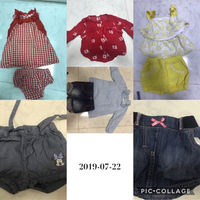 Used Branded bundle clothes for baby 6m up in Dubai, UAE