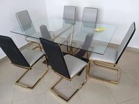 Used Vicente 1+6 glass dining set in Dubai, UAE