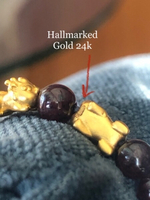 Used Solid gold 24k natural garnet  in Dubai, UAE
