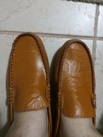 Used Comfortable khaki leather shoes in Dubai, UAE