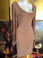 Light brown/Silver look dress size M