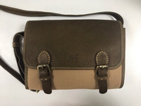 Leather and Fabric Handbag
