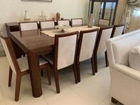 Used Dining table set with sideboard/mirror in Dubai, UAE