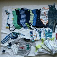 Used Baby Boy Clothes 6-9 Months 55 Items in Dubai, UAE