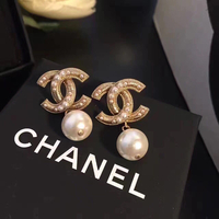 Brand Nee Chanel Earrings With Box