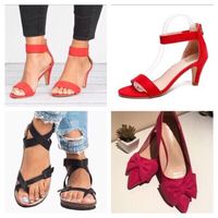Used  3 pairs of sandals/shoes size 35  in Dubai, UAE