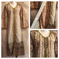 New long dress beige/olive size S