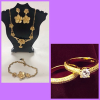Used 2 Sets of Plated Fashion Jewelries  in Dubai, UAE