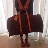 Used Authentic Louis Vuitton Keep All 60 Big Size Hand Carry Bag Good For Travel On Your Summer Vacation With Lock And Key Is Only The Inclusion It Is Used Still Flawless And Good Condition  in Dubai, UAE