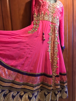 Crystal work party gown 3 m flair m