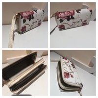 Floral wallet with strap new