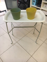 Plants tray stand with 2 pots