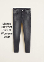 "Mango jeans waist 30"" before 289dhs"