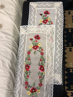 Used Embroidered Linen Tablecloth set of 2 pc in Dubai, UAE