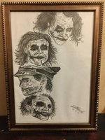 Used Home decor sketch art handmade joker  in Dubai, UAE
