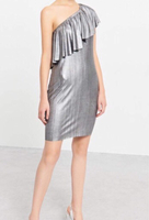 Used Silver Party Dress in Dubai, UAE