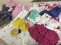 Used kids 8tops and pant 1baby dress 1scarves in Dubai, UAE