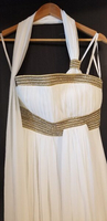 Used White Greek style long dress in Dubai, UAE