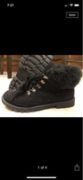 Used Black High-tops boots with fur in Dubai, UAE