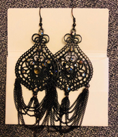 Earrings black long