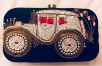 Used Embroidered Funky Clutch   in Dubai, UAE